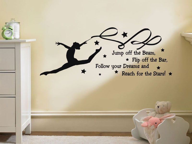 Follow Your Dreams And Reach For The Stars Wall Quote